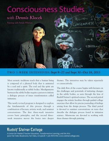 Consciousness Studies - Rudolf Steiner College
