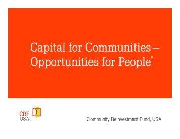 Community Reinvestment Fund, USA