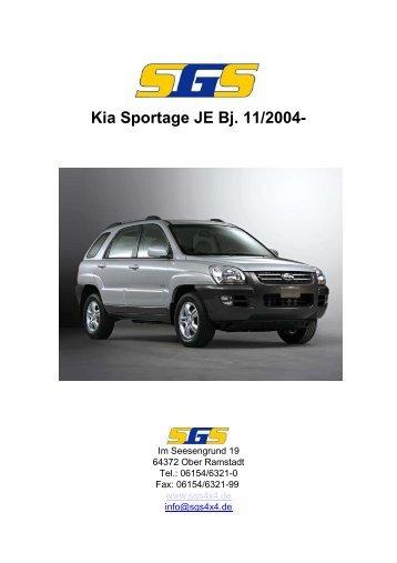 Kia Sportage JE Bj. 11/2004- - SGS