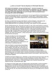 Bericht (Deutsch) - BenE – München