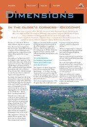 Dimensions Vol 7 Issue 1 April 2004 In the globe's far corners