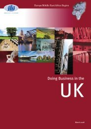 doing business in the UK - JHI
