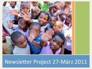 NewsleYer Project 27-‐März 2011 - bei project27