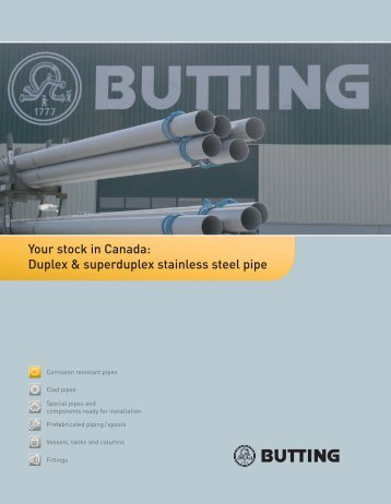 Your stock in Canada: Duplex & superduplex stainless steel pipe