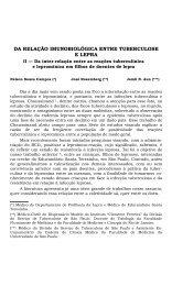 DA RELAÇÃO IMUNOBIOLÓGICA ENTRE TUBERCULOSE E LEPRA