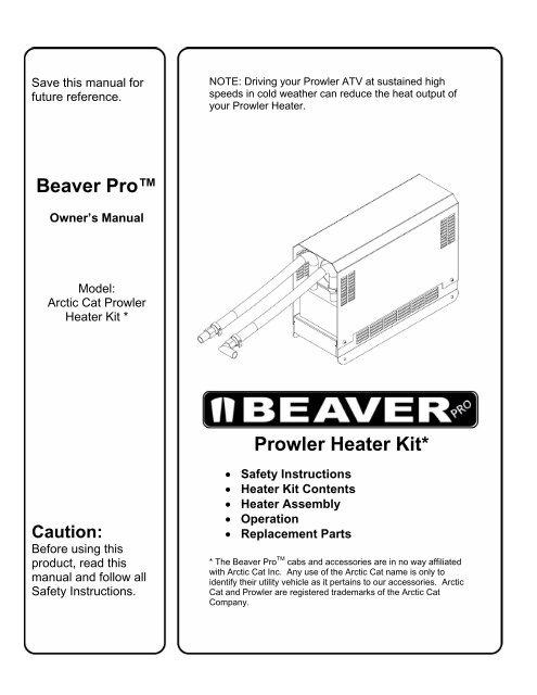 Prowler Heater Kit - BeaverPro