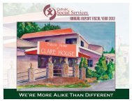 Fiscal Year 2012 Annual Report - Catholic Social Services