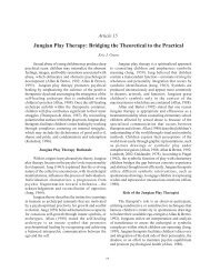 Jungian Play Therapy - Counseling Outfitters
