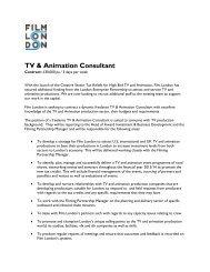 TV & Animation Consultant - Film London