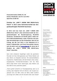 """""""DON`T DRINK AND DRIVE-Party Patrol"""" in 2012 unter ..."""