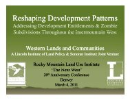 Reshaping Reshaping Development Patterns ... - Sonoran Institute