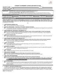 CITIBANK® GOVERNMENT CARDHOLDER DISPUTE FORM
