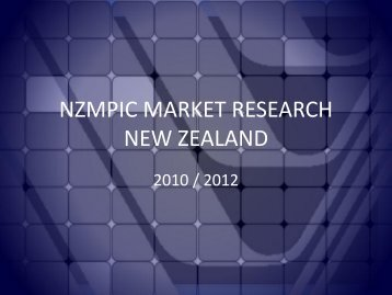 NZMPIC Audience Research October 2012 - New Zealand Film ...