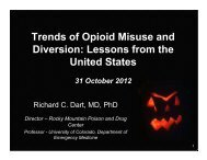 Trends of Opioid Misuse and Diversion: Lessons from the United ...