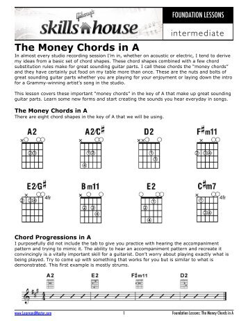 Money Chords in C - Gibson