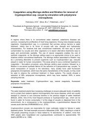 Coagulation using Moringa oleifera and filtration for removal of ...