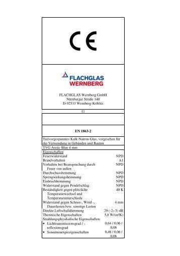 TVG Arctic Blue (PDF 43 KB) - FLACHGLAS Wernberg
