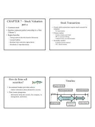 CHAPTER 7 – Stock Valuation