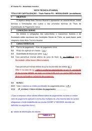 NOTA TÉCNICA ATUARIAL TÍTULO DE CAPITALIZAÇÃO ... - Susep