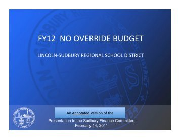FY12 NO OVERRIDE BUDGET - LS Home Page
