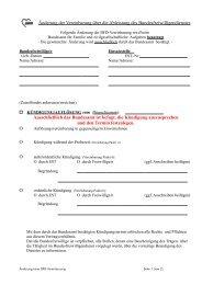 Änderung der Vereinbarung über die Ableistung des ...