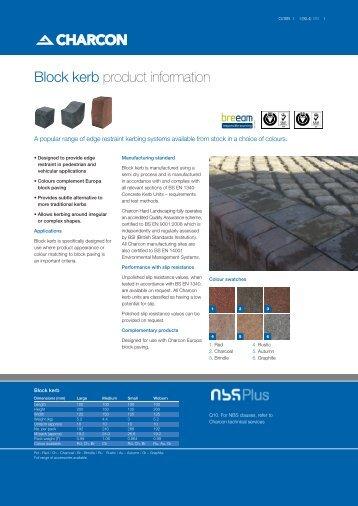 Block kerb - Aggregate Industries