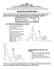 Dead Bug Abdominal Bracing Exercises