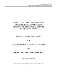 please click here to download the tender document - Nepal Airlines