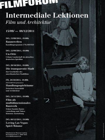 Intermediale Lektionen - Filmforum NRW