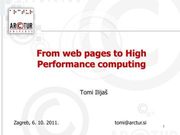 From web pages to High Performance computing