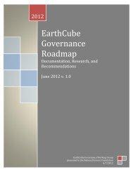 Earthcube Governance Roadmap - Ning
