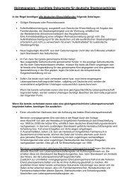 Heiratspapiere – benötigte Dokumente für deutsche ... - Hirschhorn