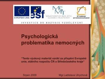 Psychologická problematika nemocných