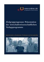 Zielgruppengenaue Präsentation des ... - WiWi-Online