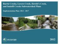 Implementation Plan - Lake Simcoe Region Conservation Authority
