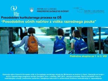 Posodobitev UN za 1. in 2. triletje (Sandra Mršnik) - Zavod RS za ...