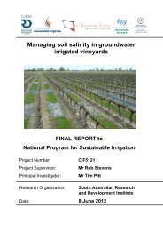 Managing soil salinity in groundwater irrigated vineyards