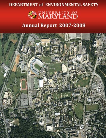 2007-2008 - University of Maryland - Department of Environmental ...