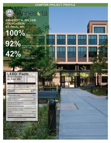 LEED ® Facts - Amherst H. Wilder Foundation