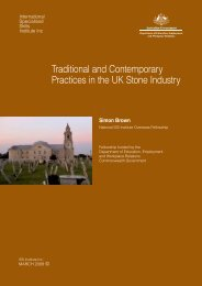 Traditional and Contemporary Practices in the UK Stone Industry