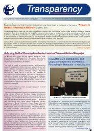 Newsletter Jan – Jun 2010 - Transparency International Malaysia