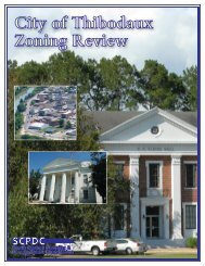 City of Thibodaux Zoning Review - South Central Planning ...