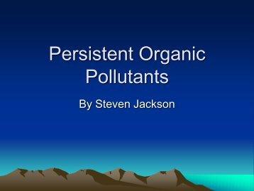 Persistent Organic Pollutants - University of Colorado at Boulder