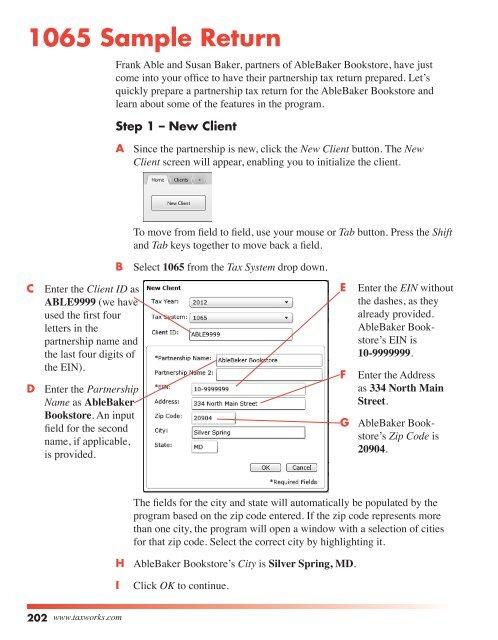 form 1065 filing address  11 Sample Return - Taxworks.com