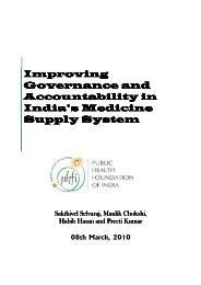 PFHI draft analytical report - Transparency and Accountability Program