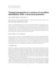 Testing homogeneity in a mixture of von Mises distributions with a ...