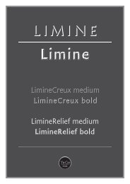 LimineCreux medium LimineCreux bold LimineRelief medium ...