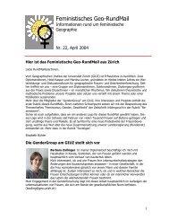 Nr. 22, April 2004 - AK Geographie und Geschlecht