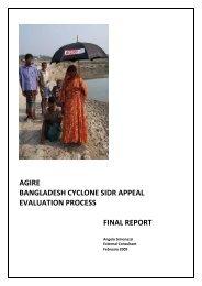 agire bangladesh cyclone sidr appeal evaluation ... - Global Hand