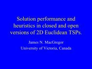 James MacGregor, Solution performance and heuristics in closed ...
